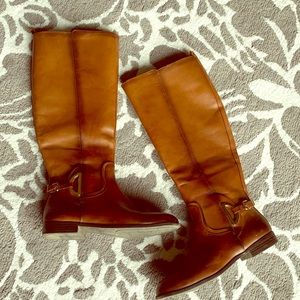 Tall Alex Marie brown leather boots 👢